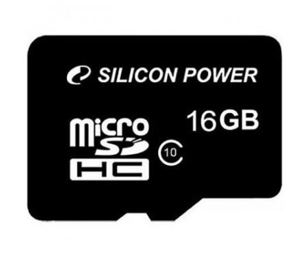 Карта памяти Silicon Power 16Gb MicroSD class 10 (SP016GBSTH010V10SP)
