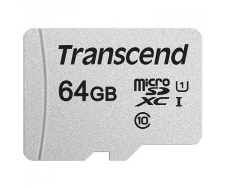 Карта памяти Transcend 64GB microSDXC class 10 UHS-I U1 (TS64GUSD300S-A)