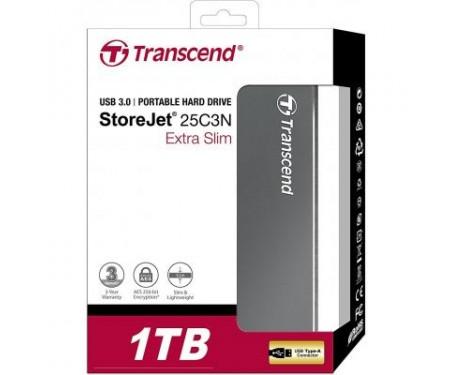 Внешний накопитель 2.5 1TB Transcend (TS1TSJ25C3N)