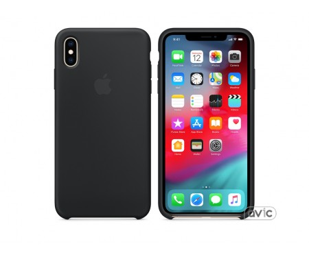 Чехол для смартфона Apple iPhone XS Max Silicone Case - Black (MRWE2)