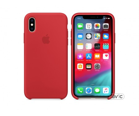 Чехол для смартфона Apple iPhone XS Silicone Case - PRODUCT RED