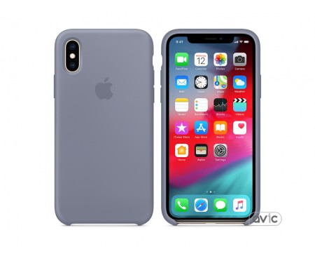 Чехол для смартфона Apple iPhone XS Silicone Case - Lavender Gray