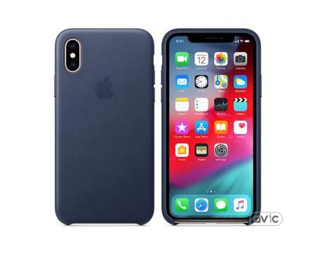 Чехол для смартфона Apple iPhone XS Leather Case - Midnight Blue