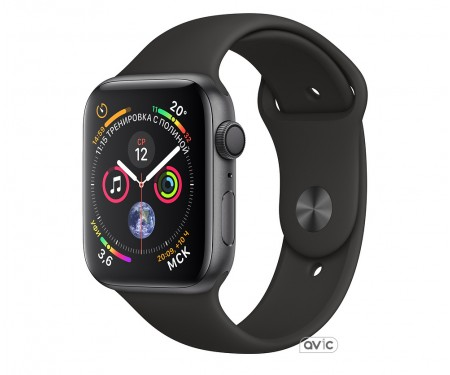 Apple Watch Series 4 GPS + LTE 40mm Space Gray Aluminum Case with Black Sport Band (MTVU2)