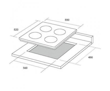 Варочная поверхность Borgio 6272-18 (White Glass) FFD
