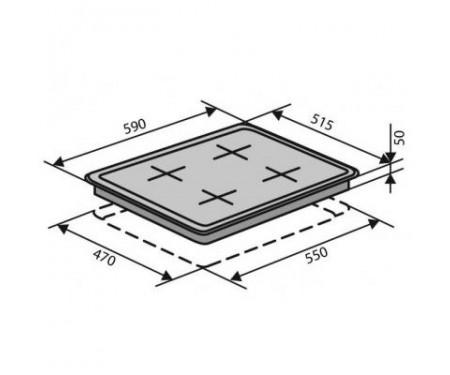Варочная поверхность Ventolux HSF640-T3G CEST (BK)