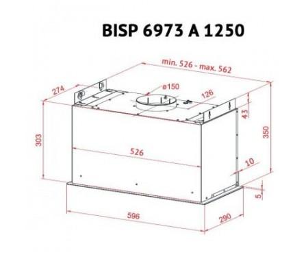 Вытяжка PERFELLI BISP 6973 A 1250 W LED Strip