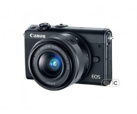Фотоаппарат Canon EOS M100 kit (15-45mm) IS STM Black