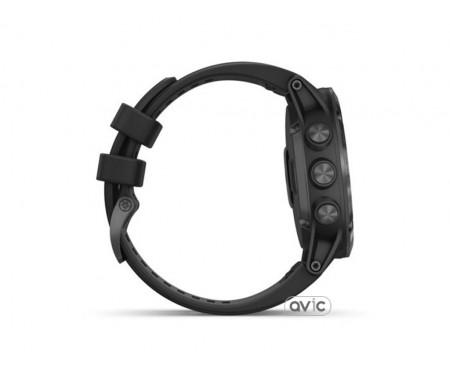 Garmin Fenix 5x Plus Sapphire Black with Black Band (010-01989-01)