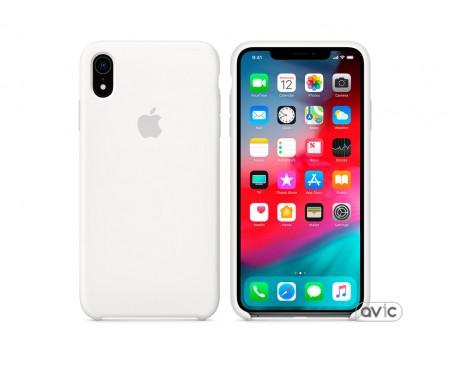 Чехол для смартфона Apple iPhone XR Silicone Case White