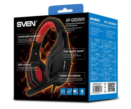 Наушники Sven AP-G850MV Black/Red UAH