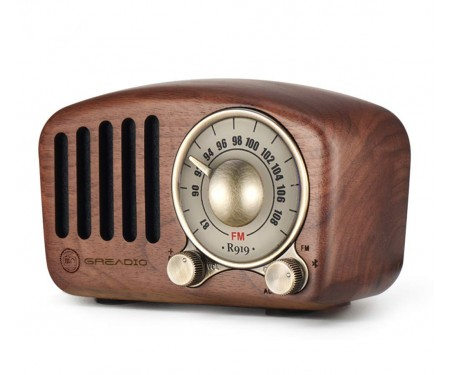 Greadio Vintage Radio Retro (Walnut Wooden)