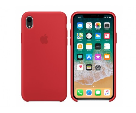 Apple iPhone XR Silicone Case Red PRODUCT (Copy)