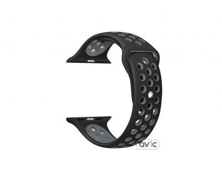 Ремешок Nike+ Apple Watch 38mm Black Grey Sport Band