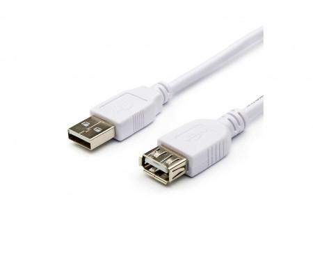 Кабель Atcom USB 2.0 AM-USB 2.0 AF 0,8 м (3788) White