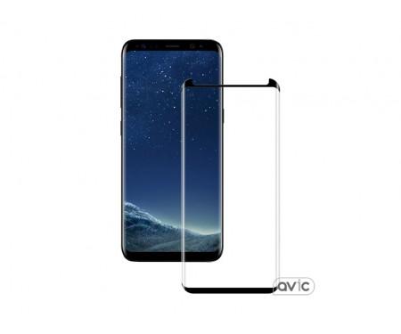 Защитное стекло для Samsung S8 Plus Black Fullglue