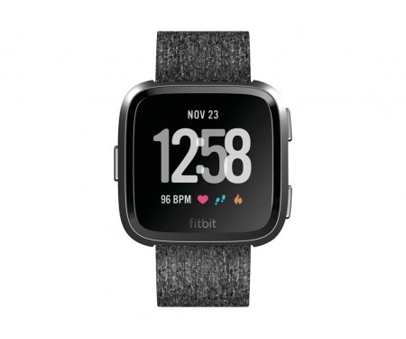 Fitbit Versa Special Edition, Charcoal Woven (FB505BKGY)