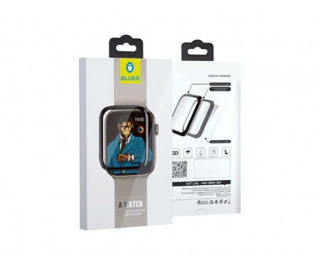Защитное стекло для Apple Watch 44mm Black Blueo
