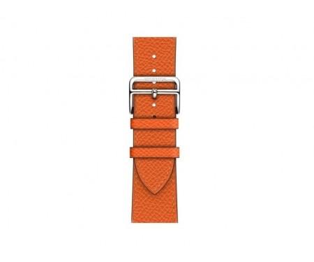 Ремешок Apple Watch Hermes 40mm Feu Epsom Leather Single Tour