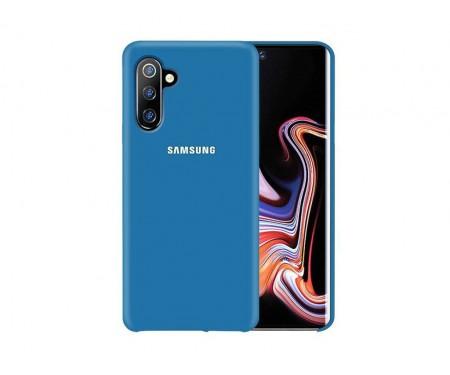 Чехол для Samsung Note 10 Blue Silicone case
