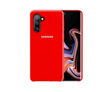 Чехол для Samsung Note 10 Red Silicone case
