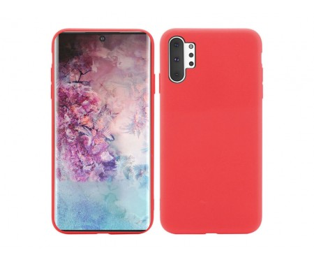 Чехол для Samsung Note 10 Plus Red Silicone case