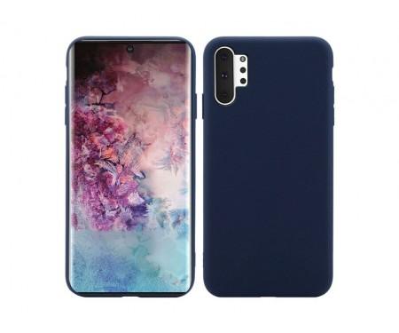 Чехол для Samsung Note 10 Plus Midnight Blue Silicone case