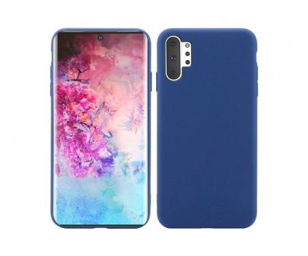Чехол для Samsung Note 10 Plus Blue Silicone case