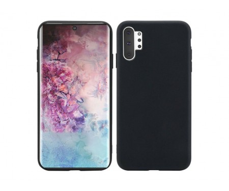 Чехол для Samsung Note 10 Plus Black Silicone case
