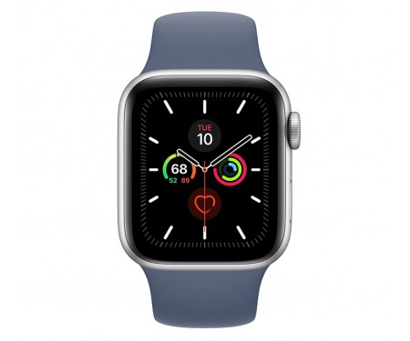 Apple Watch Series 5 (GPS) 40mm Silver Aluminum Case with Sport Band Alaskan Blue (MWPT2) 2
