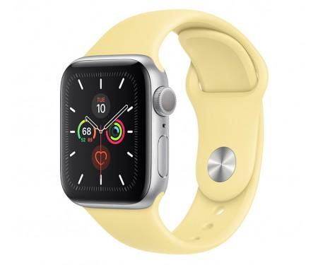 Apple Watch Series 5 (GPS) 44mm Silver Aluminum Case with Sport Band Lemon Cream (MWT32) 1