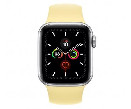 Apple Watch Series 5 (GPS) 44mm Silver Aluminum Case with Sport Band Lemon Cream (MWT32) 2
