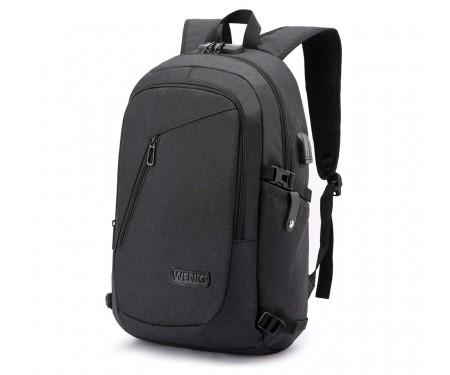 Рюкзак WENIG Business Travel Laptop Backpack Black