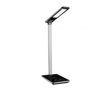 Лампа ColorWay LED с беспроводной зарядкой и USB Black (CW-DL01WC-B)