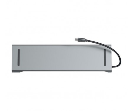 Адаптер SONDER Type-C ports 10 в 1 (HDMI 4K, USB 3.0 x 3, USB-C, SD, MicroSD, VGA, RJ45, 3.5 Jack)