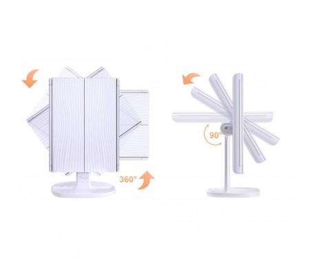 Зеркало для макияжа с LED освещением BESTOPE White (BP03005-WHE)