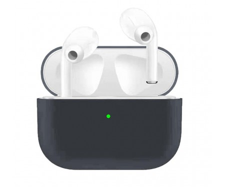 Чехол для Airpods Pro Ultrathin Silicon case Grey Blue