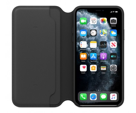 Чехол для Apple iPhone 11 Pro Leather Folio Black (MX062)