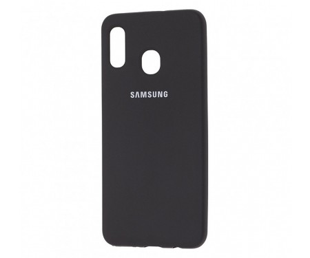Чехол для Samsung Galaxy A30 Silicone Cover Black