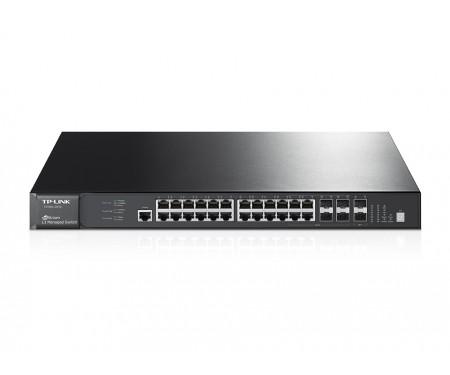 Коммутатор TP-Link T3700G-28TQ JetStream (24*Gigabit, 4*combo 1G SFP, 2-4 10G SFP+, 1*Console Port, L3)