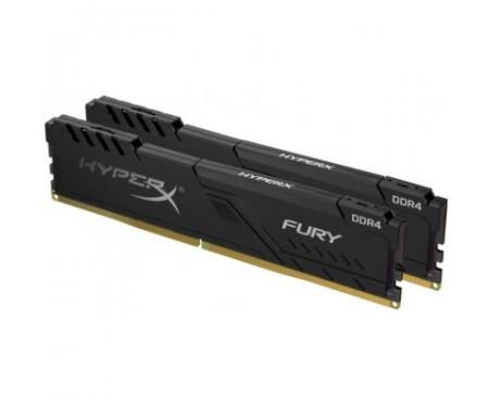 Модуль памяти для компьютера DDR4 16GB (2x8GB) 2666 MHz HyperX Fury Black Kingston (HX426C16FB3K2/16)