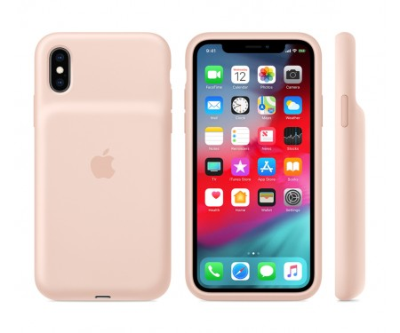 Чехол для Apple iPhone XS Smart Battery Case Pink Sand (MVQP2) 3