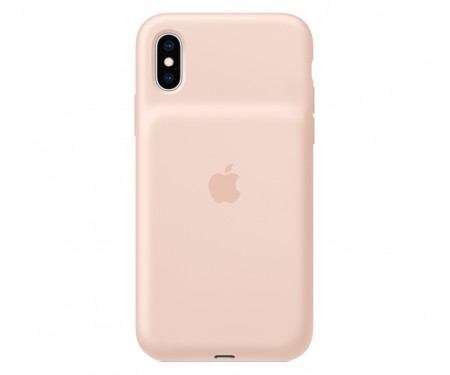 Чехол для Apple iPhone XS Smart Battery Case Pink Sand (MVQP2) 1