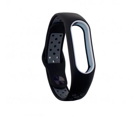 Ремешок для Xiaomi Mi Band 3/4 Sport Nike Black Gray