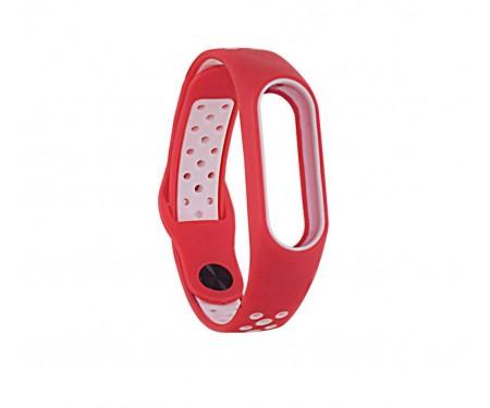 Ремешок для Xiaomi Mi Band 3/4 Sport Nike Red White