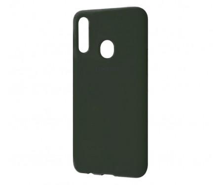Чехол для Samsung Galaxy A20s Silicone Cover Dark Olive