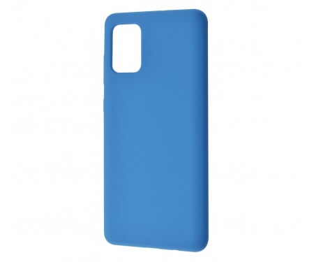 Чехол для Samsung Galaxy A41 Silicone case Blue