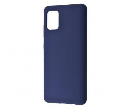 Чехол для Samsung Galaxy A41 Silicone case Deep Lake Blue