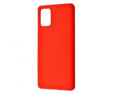 Чехол для Samsung Galaxy A41 Silicone case Red