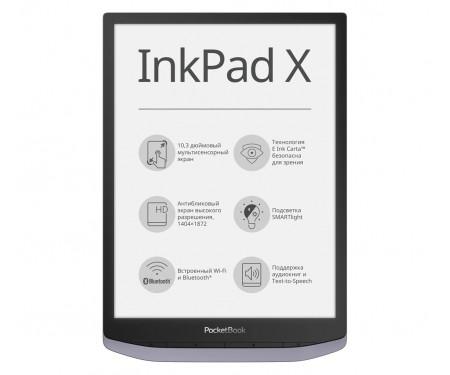 Электронная книга с подсветкой PocketBook 1040 InkPad X Metallic grey (PB1040-J-CIS)